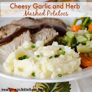 Cheesy Garlic and Herb Mashed Potatoes