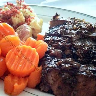 Pan Fried Pepper Steak.