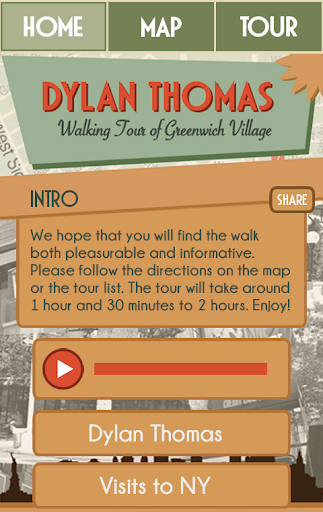 Dylan Thomas Walking Tour - NY