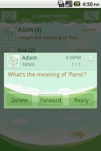 Easy SMS Spring Green theme screenshot