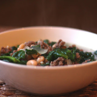 Italian White Bean, Spinach and Beef Soup.