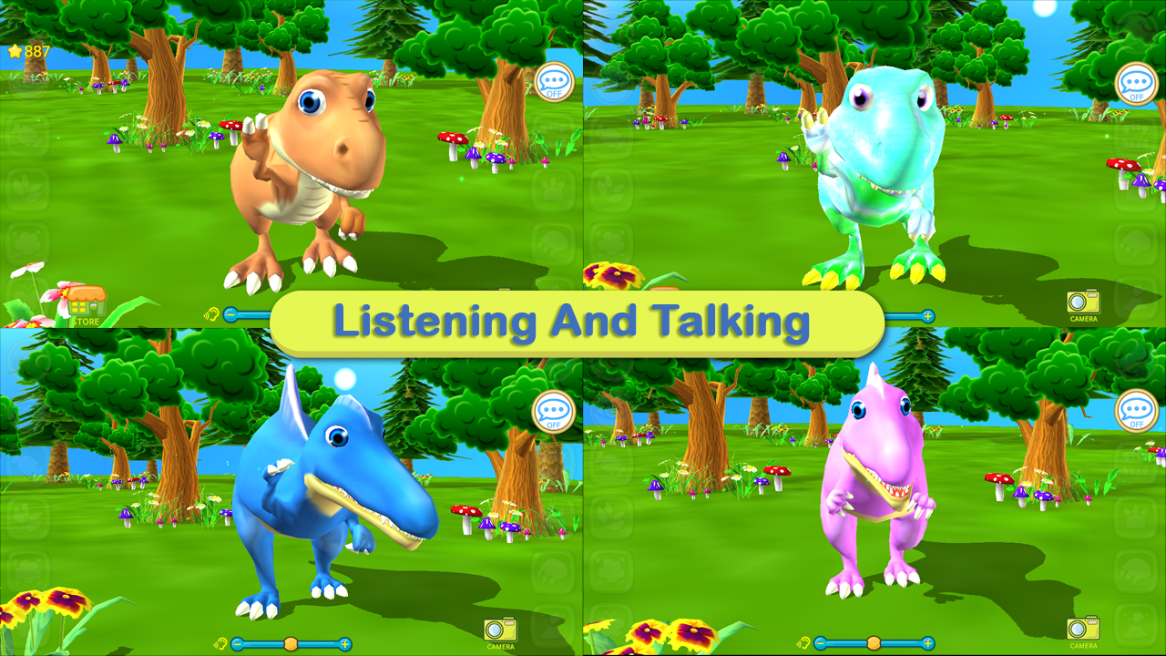 Dinosaur Coloring 3D - AR- screenshot