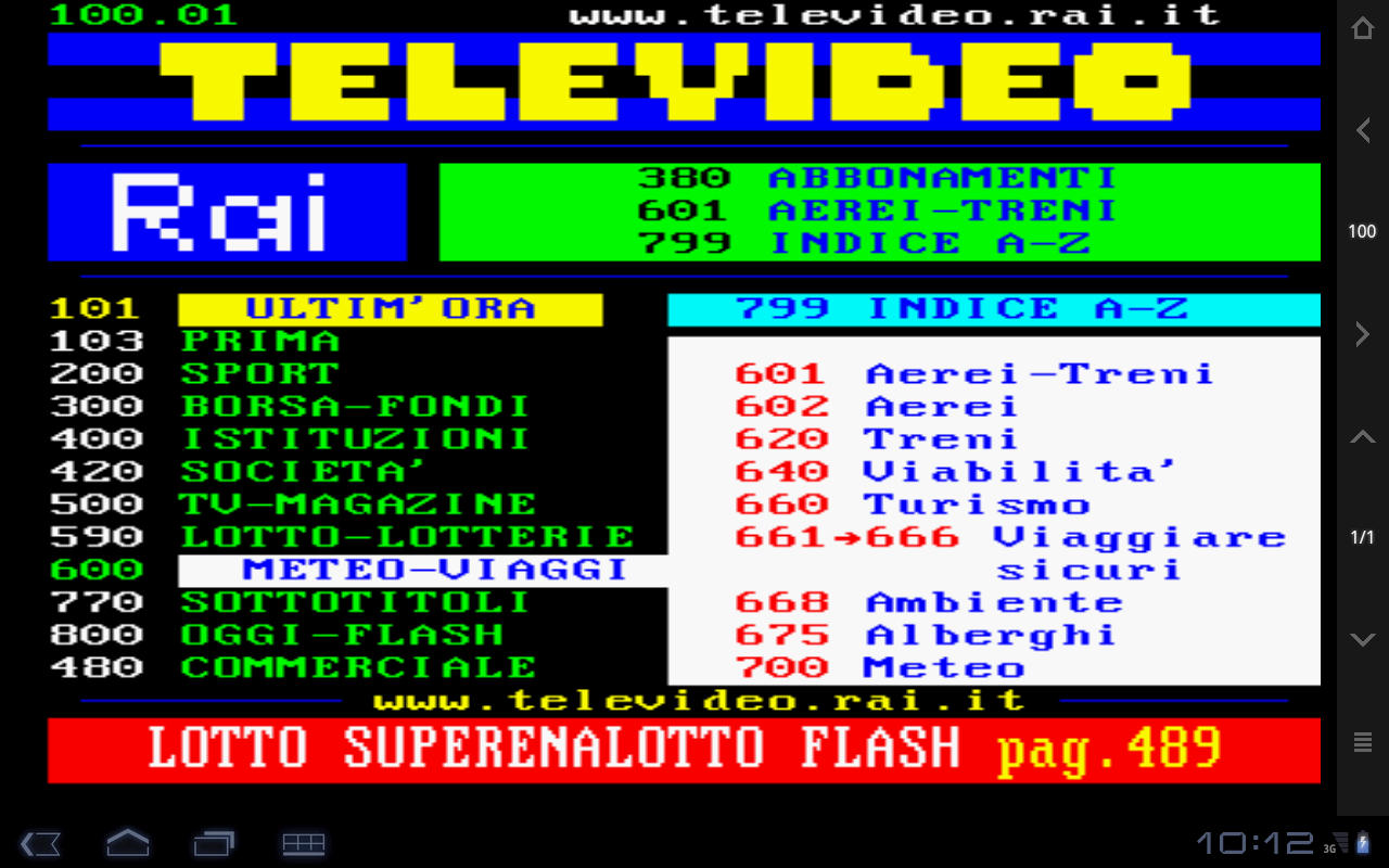 Televideo- screenshot