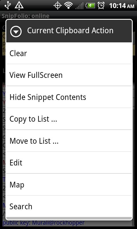 SnipFolio - Clipboard Manager - screenshot