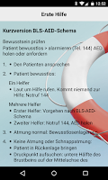 Screenshot of Helvetia Notfall Applikation