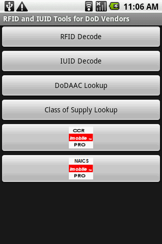 RFID IUID Tools for DoD Vendor - screenshot