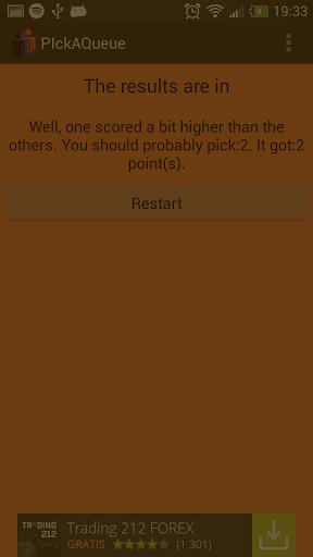 玩免費娛樂APP|下載Pick a Queue app不用錢|硬是要APP