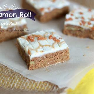 Healthy Cinnamon Bun Squares
