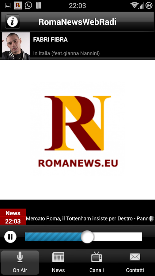 Roma News Web Radio - screenshot
