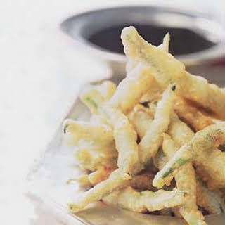 Sesame Tempura Green Beans with Soy Dipping Sauce.