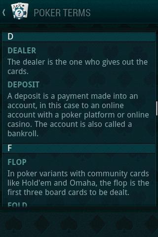 Poker Guide- screenshot