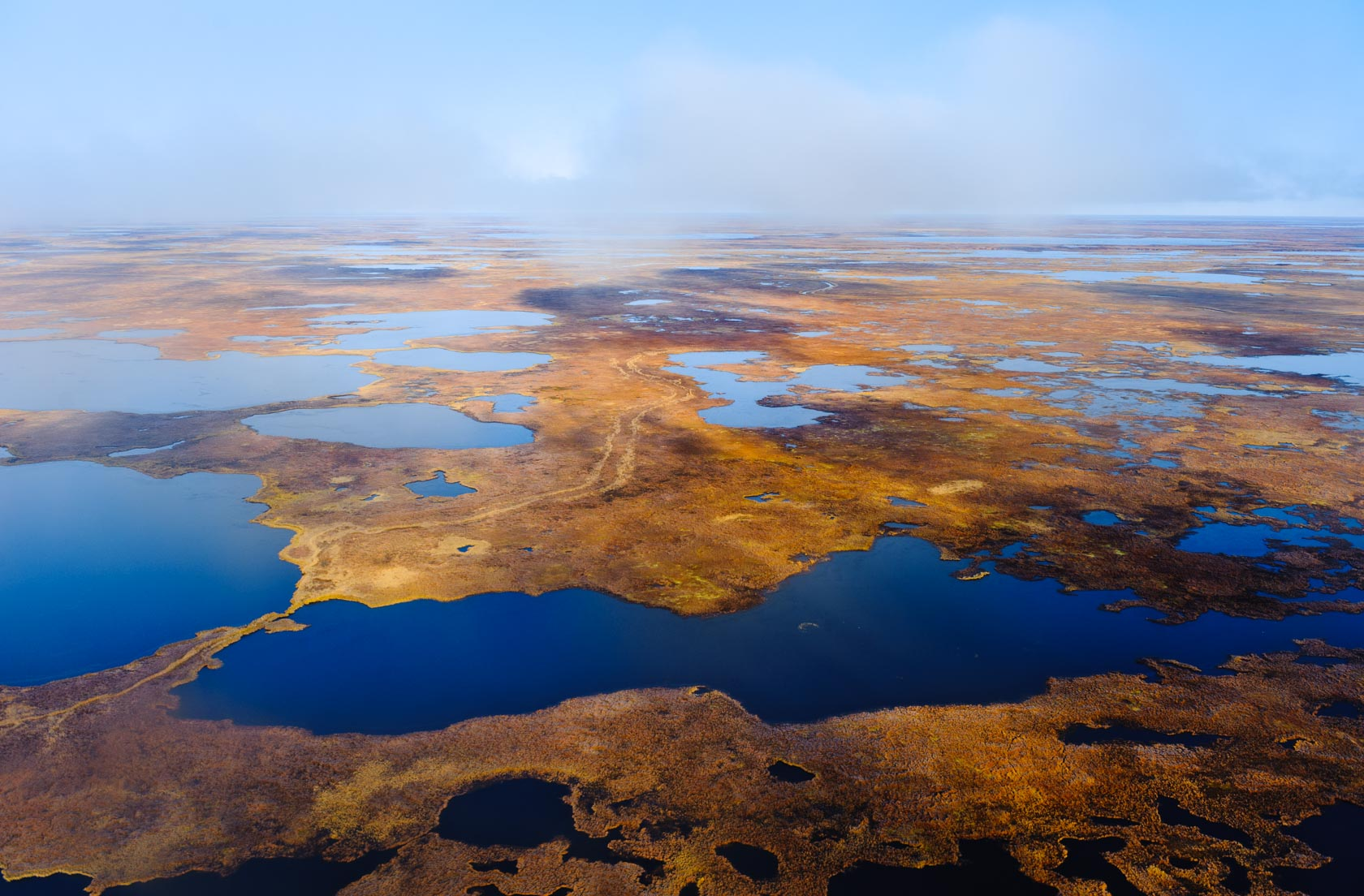 Aerial, Yukon Kuskokwim Delta, Alaska