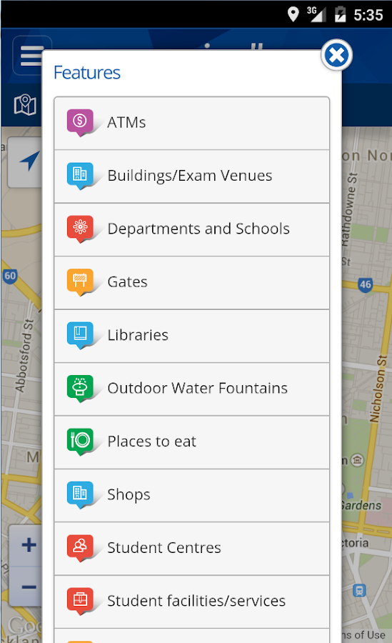 My Unimelb- screenshot