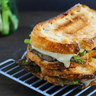 Mushroom Duxelles & Asparagus Grilled Cheese.