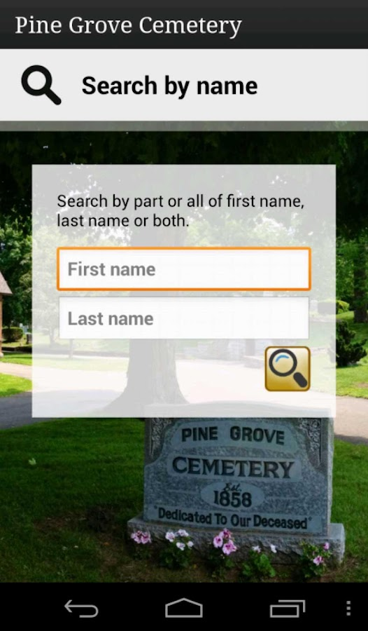 Pine Grove Cemetery- screenshot