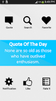 Screenshot of Daily Quotes