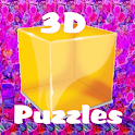 "3D ""No Glasses"" Puzzles logo"