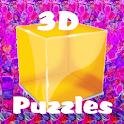 """3D """"No Glasses"""" Puzzles logo"""
