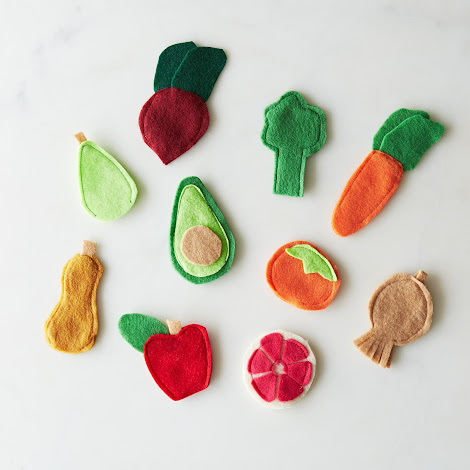 Fruit & Veggie Felt Finger Puppets