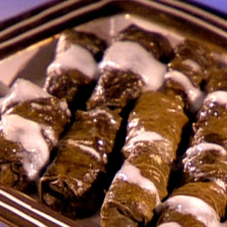 Voulas Offshore Cafe stuffed grape leaves