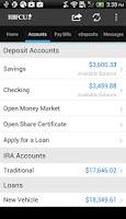Screenshot of RBFCU Mobile