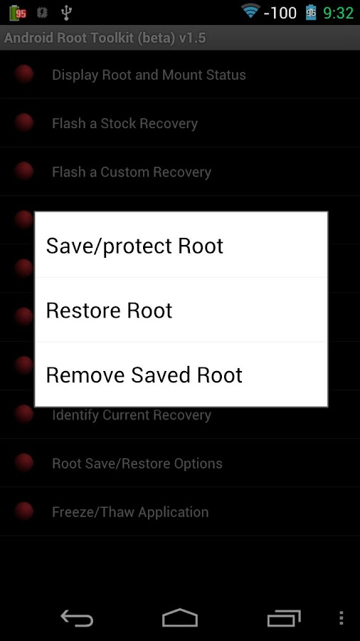 Android Root Toolkit - screenshot