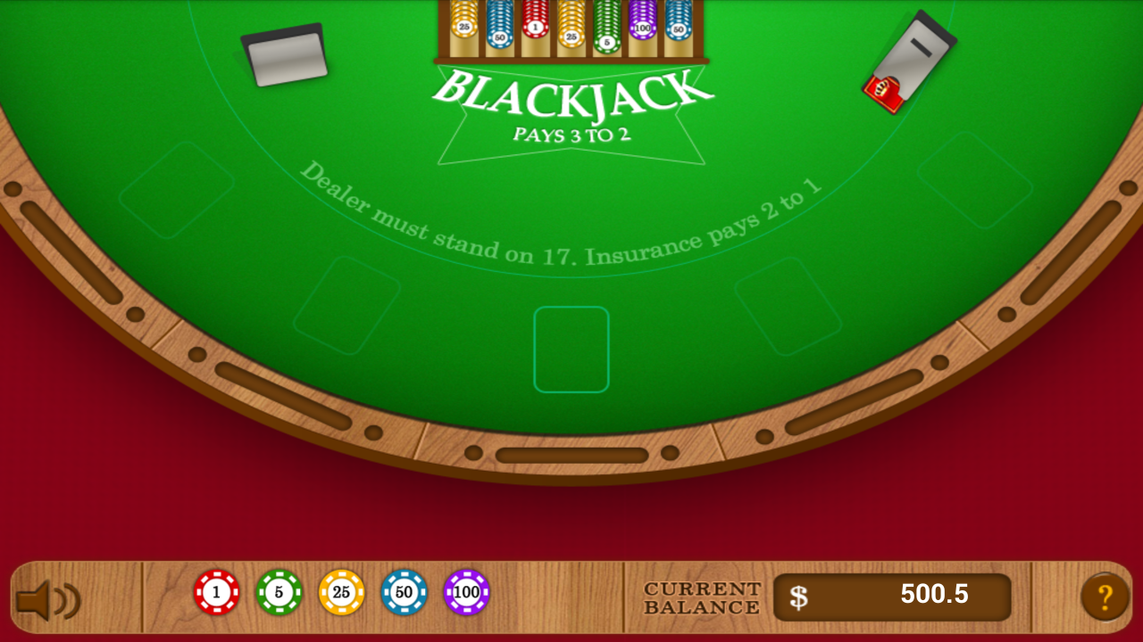 Blackjack table top view - Amazing Blackjack Screenshot