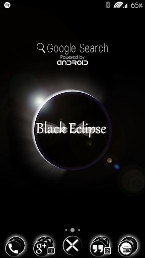 Black Eclipse Launcher Theme