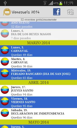 Calendario Feriados Venezuela