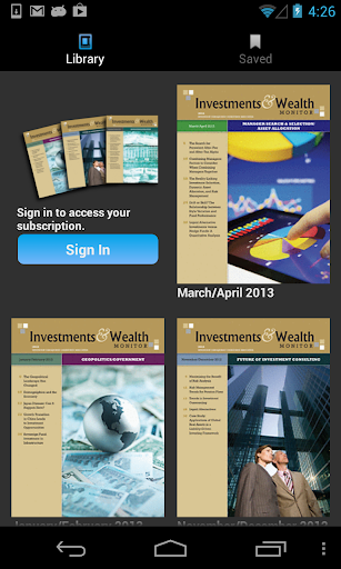 Investments Wealth Monitor