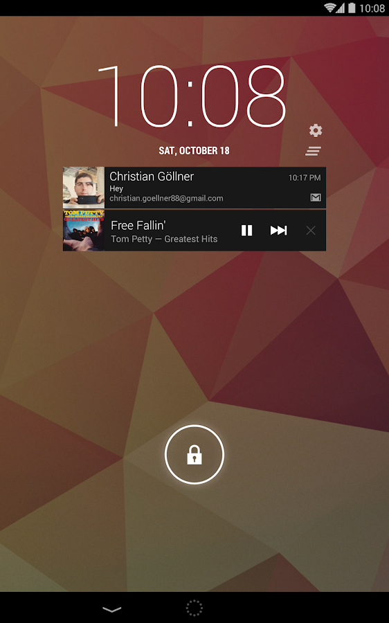 Notif Widget Notifications - screenshot