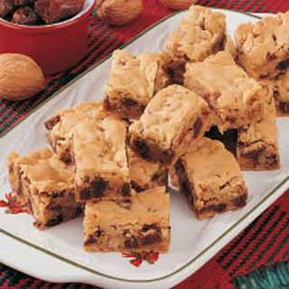 Chewy Date Nut Bars.