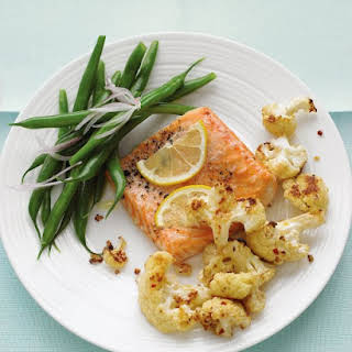 Roasted Salmon with Spicy Cauliflower.