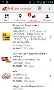 Nákupní seznam- screenshot thumbnail
