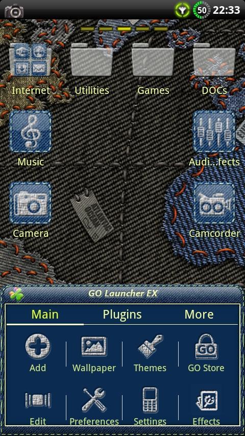 Denim GO Launcher Theme- screenshot