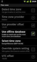 Screenshot of TimeZoneDB for ClockSync