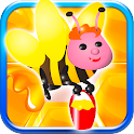 Honey Bee Match 3 World Free icon