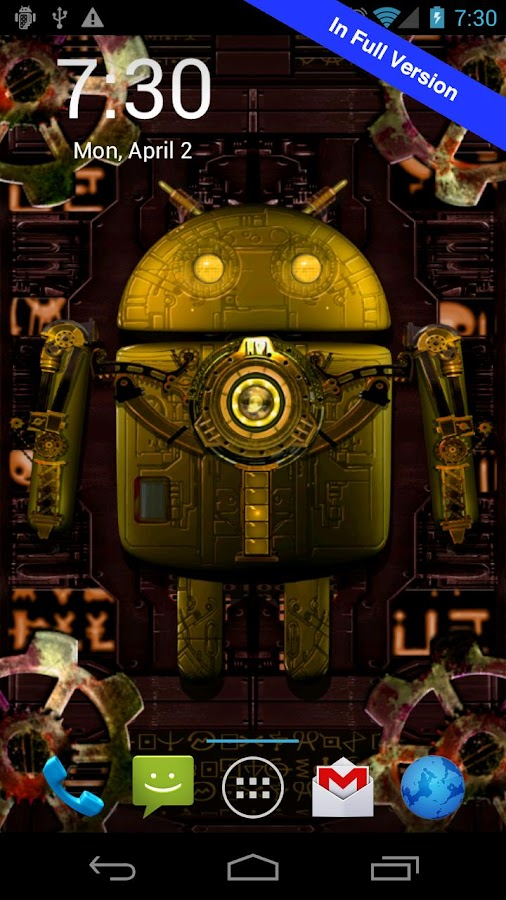 Steampunk Droid Free Wallpaper- screenshot