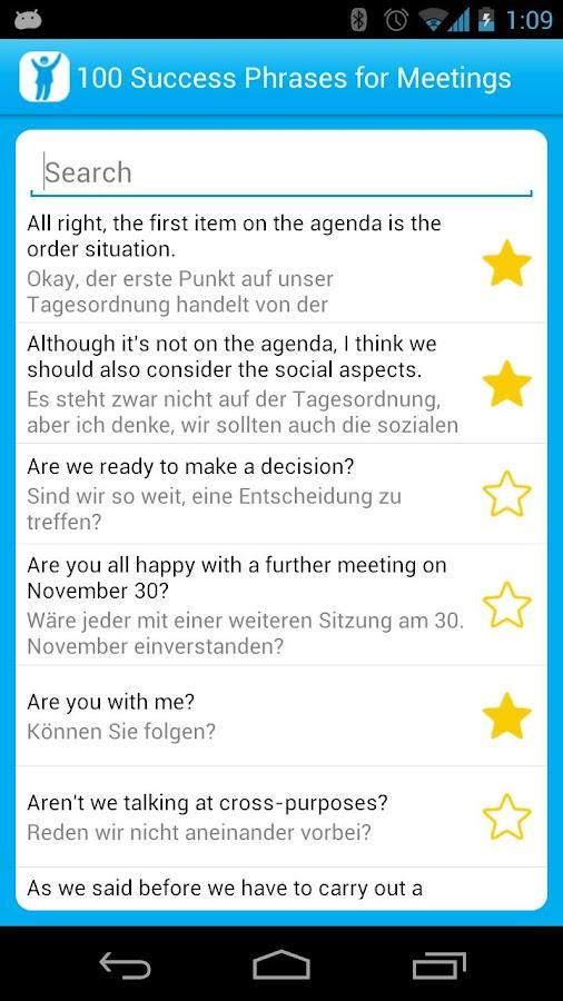 100 Meetings Success Phrases- screenshot