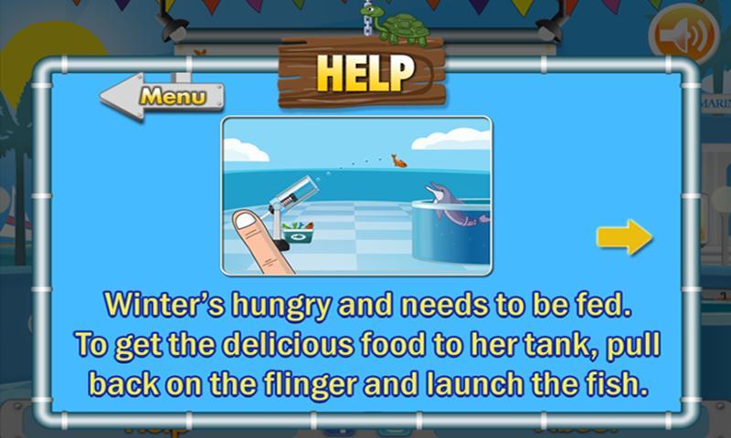 Dolphin Tale: Fling a Fish - screenshot