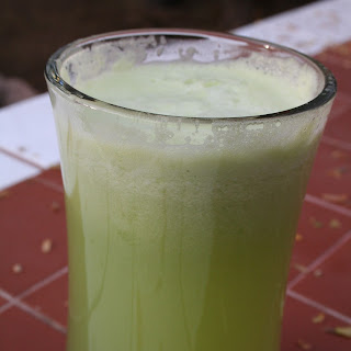 Honeydew and Cucumber Green Drink.