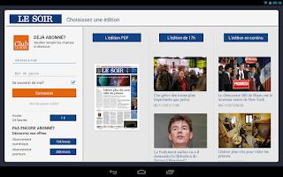 Screenshot of Le Soir Tablette
