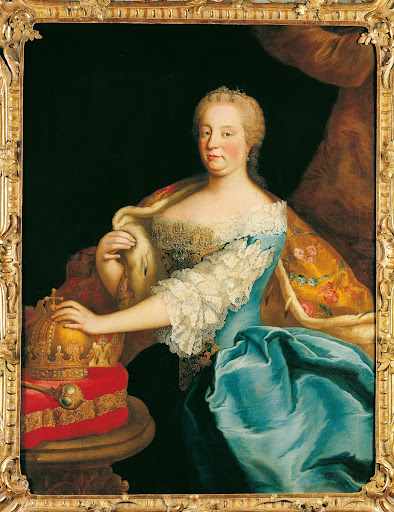 Maria Theresa in a Blue Gown
