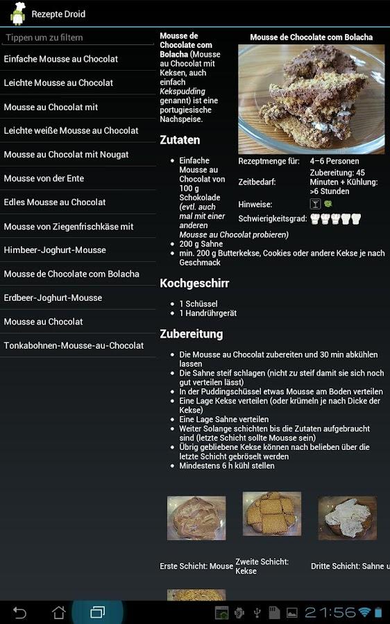 Koch Droid Rezepte - screenshot