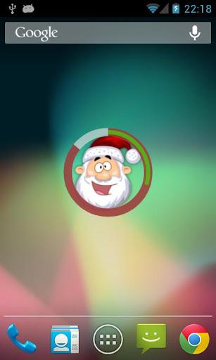 Santa Clock Widget
