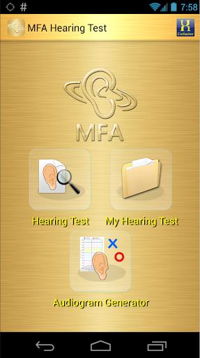 MFA Hearing Test 1.0 screenshots 1