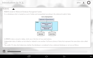 Screenshot of Learn SQL by GoLearningBus