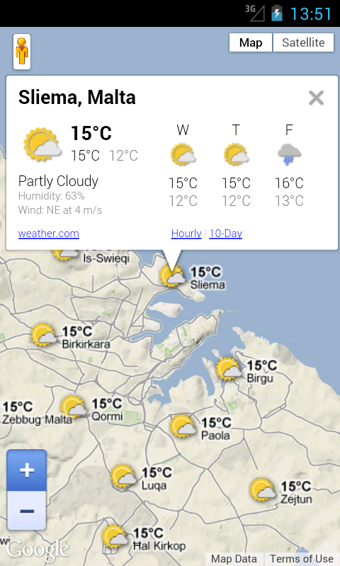 Malta Weather Forecast - screenshot