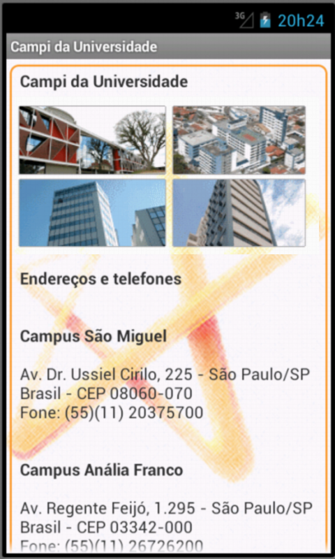 Universidade Cruzeiro do Sul - screenshot