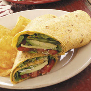 Avocado Tomato Wraps.